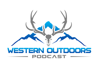 Western outdoor podcast logo design