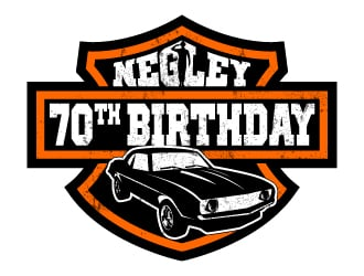 Negley 70th birthday logo design