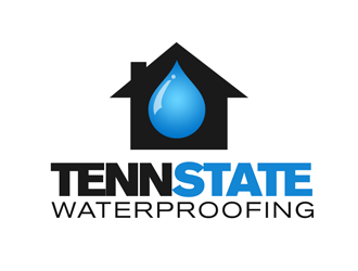 Tenn State Waterproofing (As in Tennessee State Waterproofing) logo design