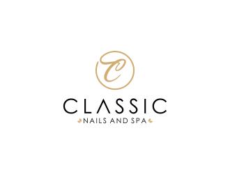Classic Nails and Spa logo design