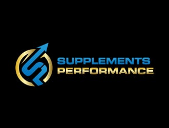 Supplements Performance logo design
