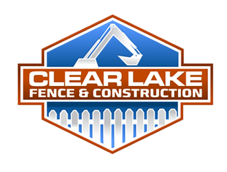 CLEAR LAKE FENCE & CONSTRUCTION logo design