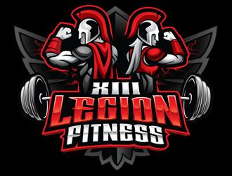 XIII Legion Fitness logo design
