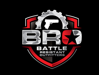 Battle Resistant Outfitters  logo design