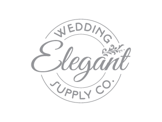 Elegant wedding supply company logo design