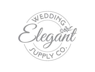 Elegant wedding supply company logo design