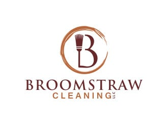 Broomstraw Cleaning, LLC logo design