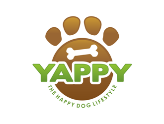 Yappy Dog Food the happy dog lifestyle logo design