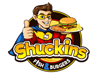 Shuckins hot dogs & more logo design