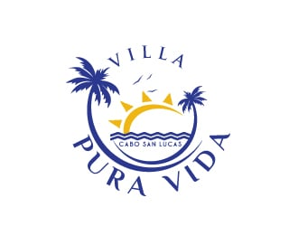 Villa Pura Vida logo design