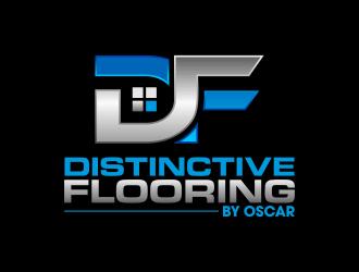 Distinctive Flooring by Oscar logo design