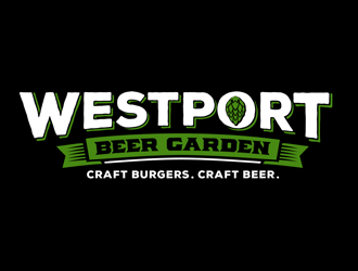 Westport Beer Garden logo design