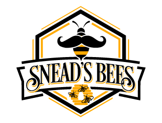 Sneads Bees logo design
