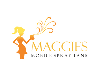 Maggies Mobile Spray Tans  logo design