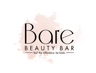 BARE Beauty Bar logo design