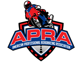 APRA - American Professional Roadracing Association logo design