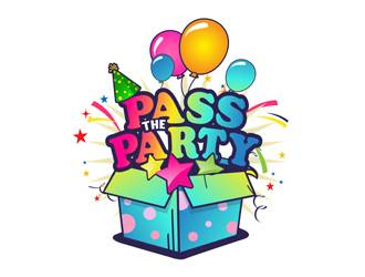 PASS THE PARTY logo design