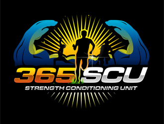 365SCU strength conditioning unit logo design