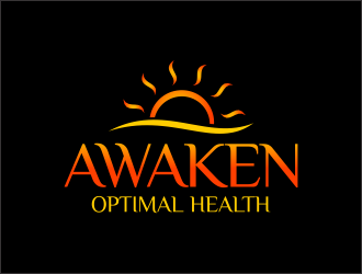AWAKEN Optimal Health logo design