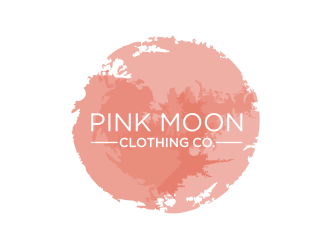 Pink moon clothing co. logo design
