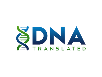 DNA Translated logo design