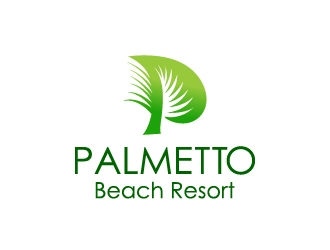Palmetto Beach Resort logo design