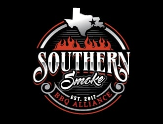 Southern Smoke BBQ Alliance logo design
