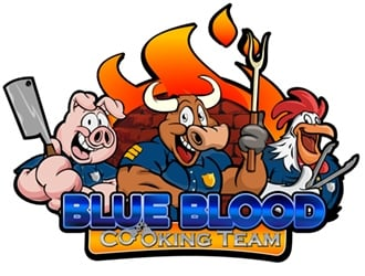 Blue Blood Cooking Team logo design