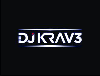 DJ Krav3 logo design