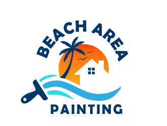 Beach Area Painting  logo design