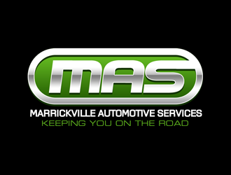 MAS  Marrickville Automotive Services logo design
