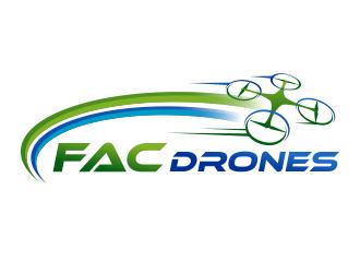FAC Drones logo design
