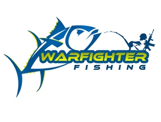 Warfighter Fishing  logo design