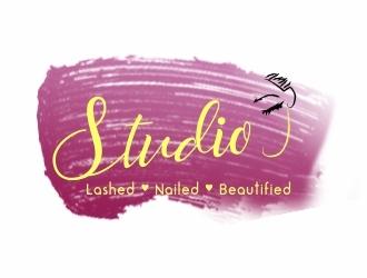Studio J (Lashed Nailed Beautified)  logo design