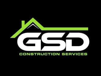 GSD Construction Services logo design