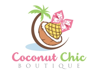 Coconut Chic Boutique  logo design