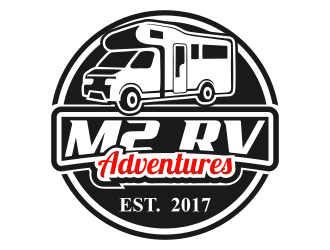 M2 RV Adventures logo design