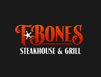 T Bones Steakhouse and Grill logo design