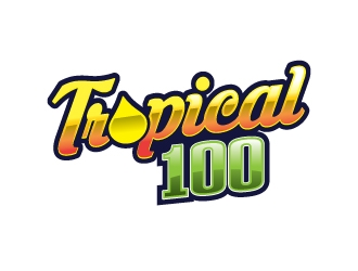 Tropical 100 logo design
