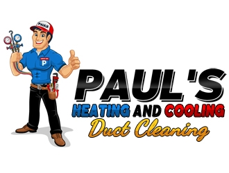 Pauls Heating and Cooling, Duct Cleaning logo design