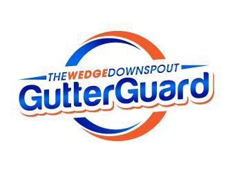 The Wedge Downspout Gutter Guard logo design winner