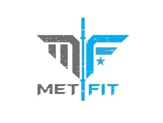My company name is Met Fit thas short from Metkovic Fitness logo design
