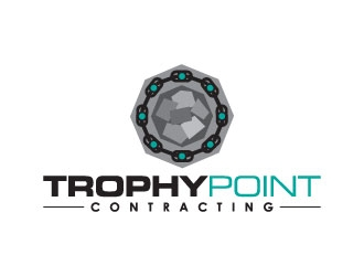 Trophy Point Contracting logo design