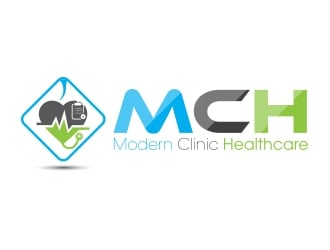 Modern Clinic Healthcare Marketplace/MCH logo design