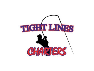 Tight Lines Charters logo design winner