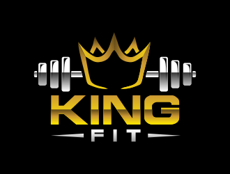 king fitness logo design
