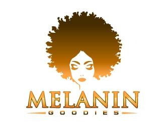 Melanin Goodies logo design