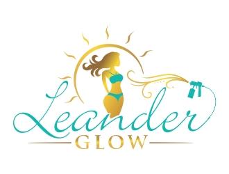 Leander Glow logo design