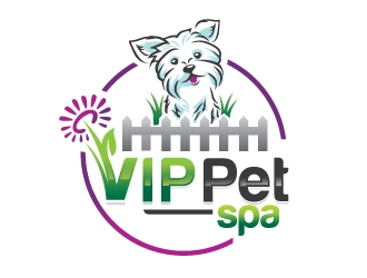 VIP Pet Spa logo design