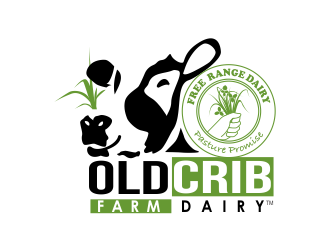 Old Crib Farm Dairy logo design